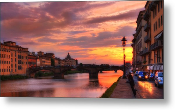 Dusk Florence Italy Metal Print