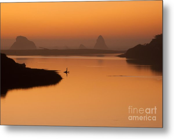 Dusk On Russian River - 7058 Metal Print by Stephen Parker