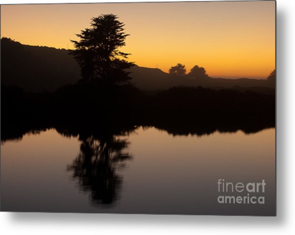Dusk On Russian River - 7059 Metal Print by Stephen Parker