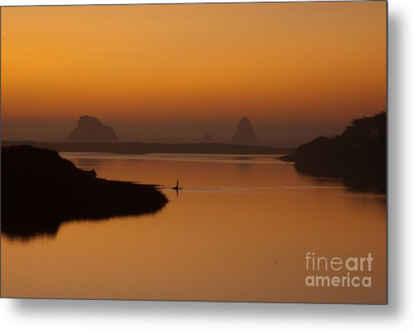 Dusk On Russian River 1.7062 Metal Print by Stephen Parker