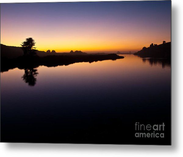 Dusk On Russian River 2.2751 Metal Print by Stephen Parker