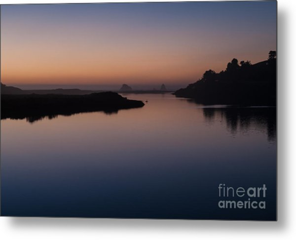 Dusk On Russian River  2.2753 Metal Print by Stephen Parker