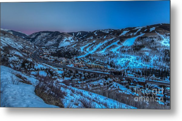 Dusk Setting In The Vail Valley Metal Print