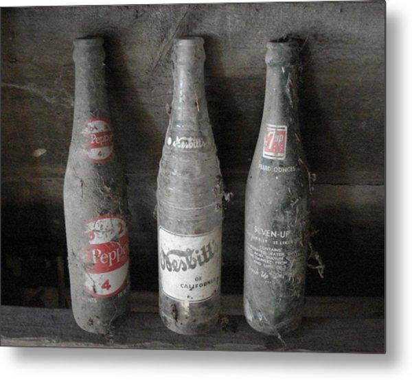 Dust On The Bottles Metal Print