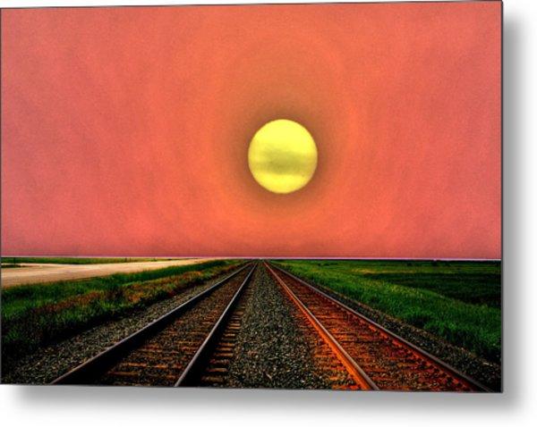 Dustbowl Sunset Metal Print