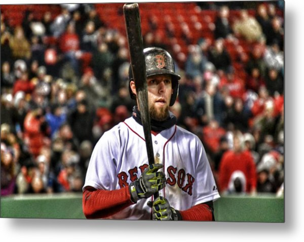 Dustin Pedroia Metal Print by SoxyGal Photography