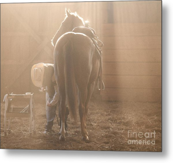 Dusty Morning Pedicure Metal Print