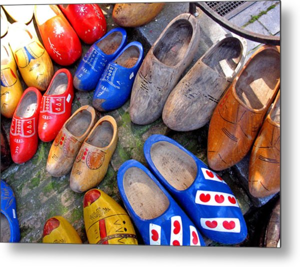 Dutch Wooden Shoes Metal Print