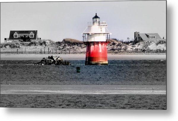 Duxbury Pier Light Metal Print