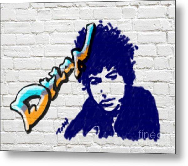 Dylan Graffiti Metal Print