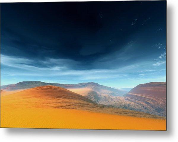 Dynamic Desert Metal Print by Jean Paul Thierevere