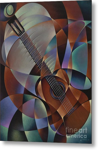 Dynamic Guitar Metal Print