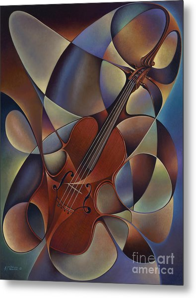 Dynamic Violin Metal Print