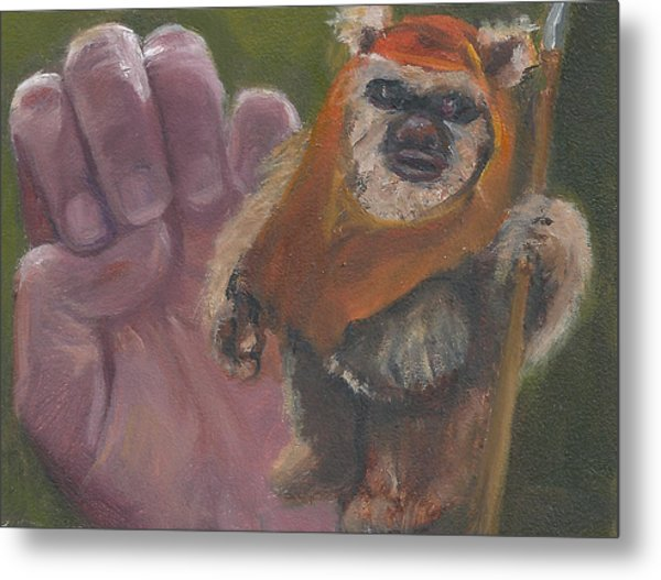 E Is For Ewok Metal Print