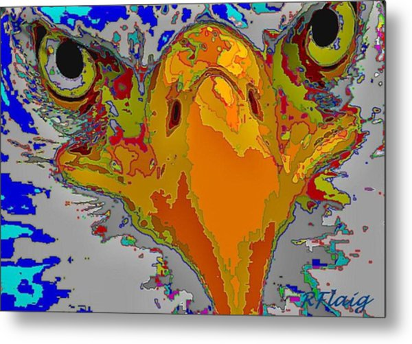 Eagle Eyes Metal Print by Rebecca Flaig
