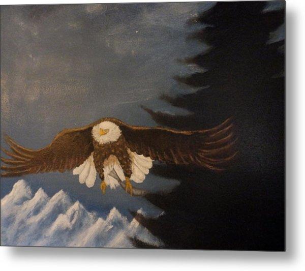 Eagle Flying Metal Print