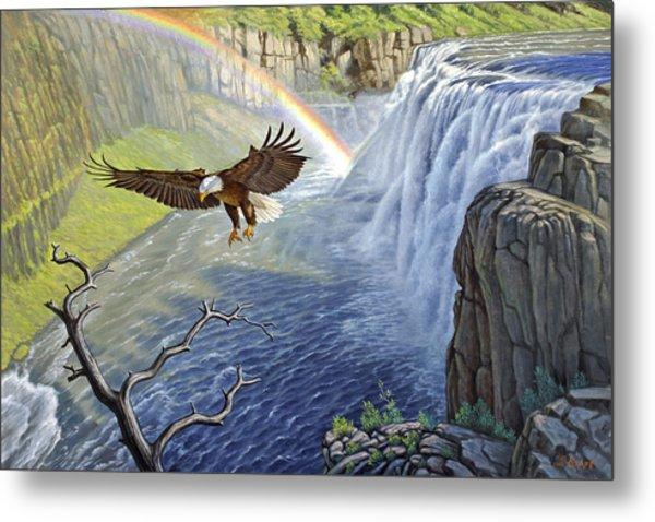 Eagle-mesa Falls Metal Print