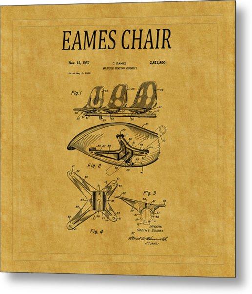 Eames Chair Patent 3 Metal Print