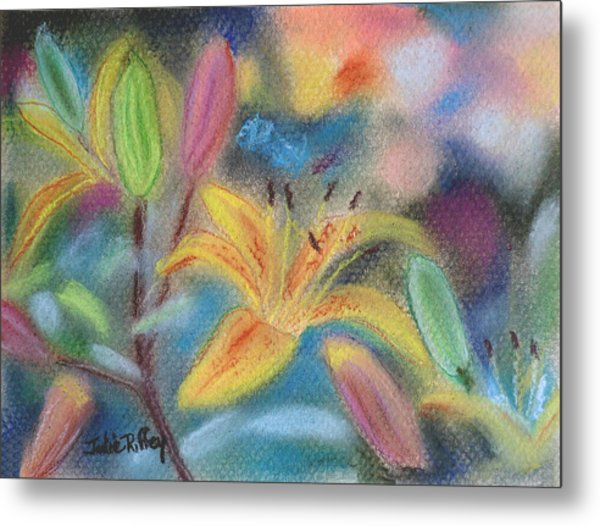 Early Arrival Lily Metal Print