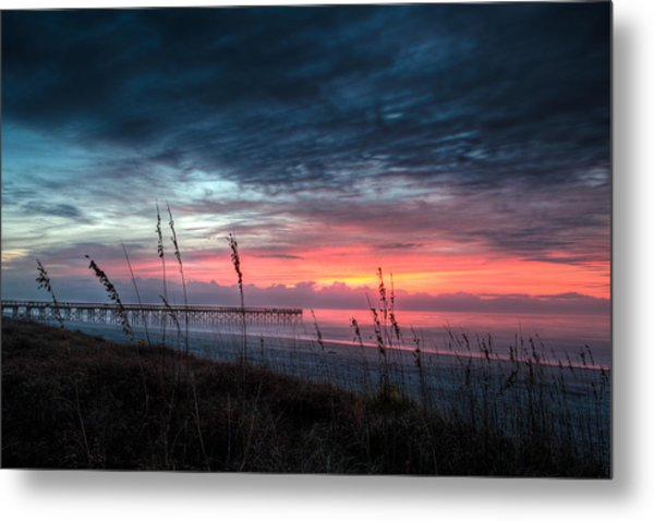 Early At The Beach Metal Print