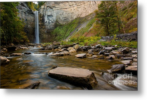 Early Autumn Morning At Taughannock Falls Metal Print