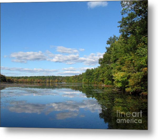 Early Autumn Scituate Reservoir Metal Print