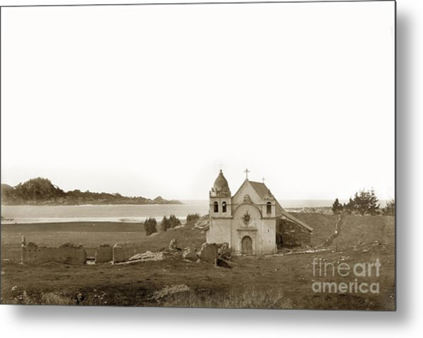 Early Carmel Mission And Point Lobos California Circa 1884 Metal Print