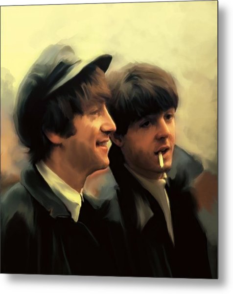 Early Days II John Lennon And Paul Mccartney Metal Print