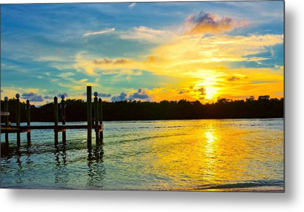 Early Evening On Sombrero Beach Metal Print