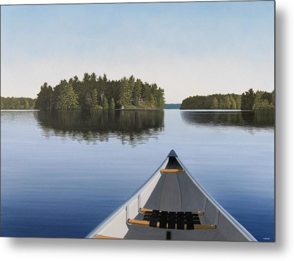 Early Evening Paddle Aka Paddle Muskoka Metal Print