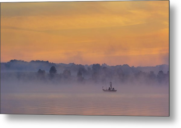 Early Fishing Metal Print