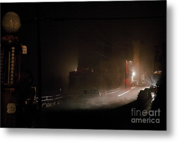 Early Misty Morning In Jerome Az Metal Print
