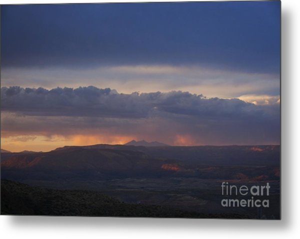 Early Monsoon Sunset Over San Francisco Peaks Metal Print