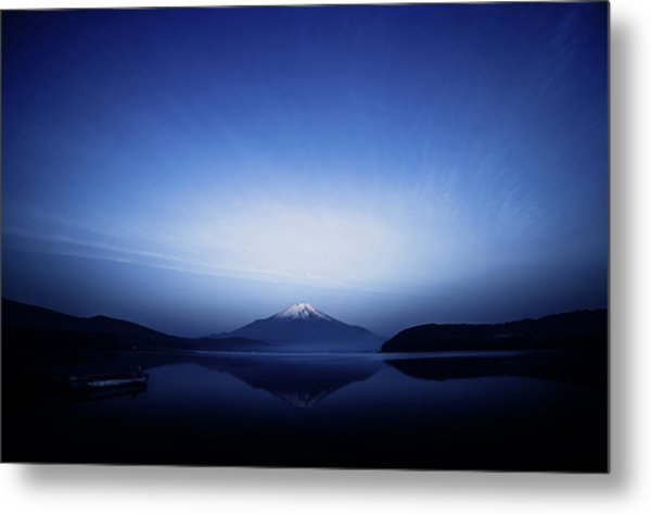 Early Morning Blue Symbol Metal Print by Takashi Suzuki