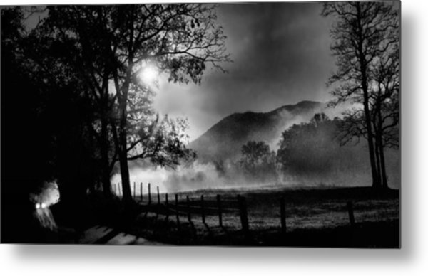 Early Morning Drive. Metal Print