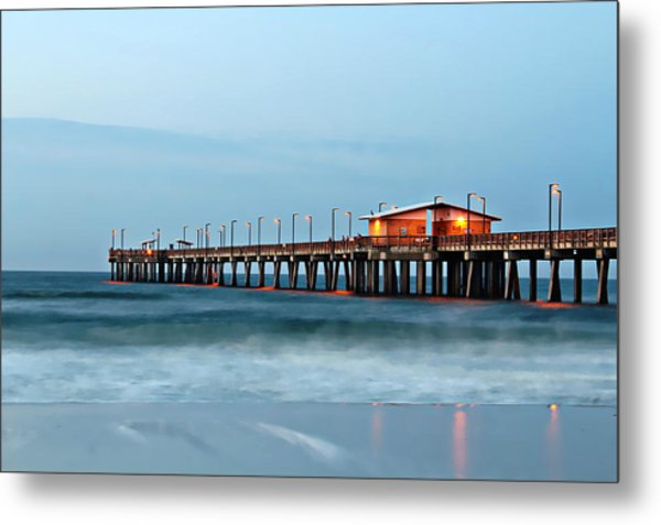Early Morning Fishing Metal Print