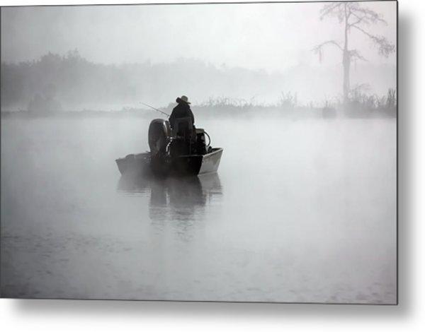 Early Morning Fishing Metal Print