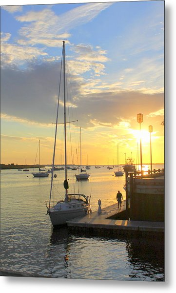 Early Morning In The Harbor Metal Print