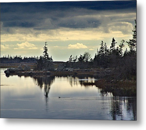 Early Morning In The Salt Marsh Metal Print by George Cousins