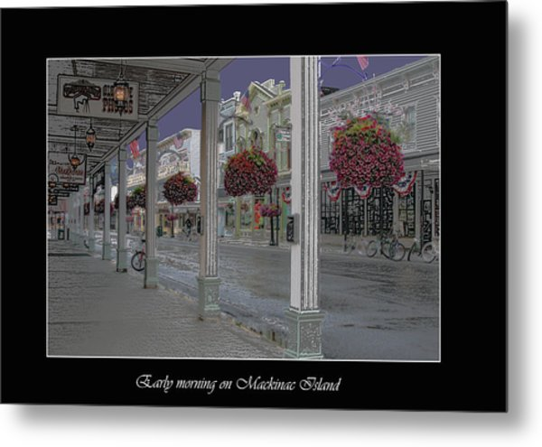 Early Morning On Mackinac Island Metal Print
