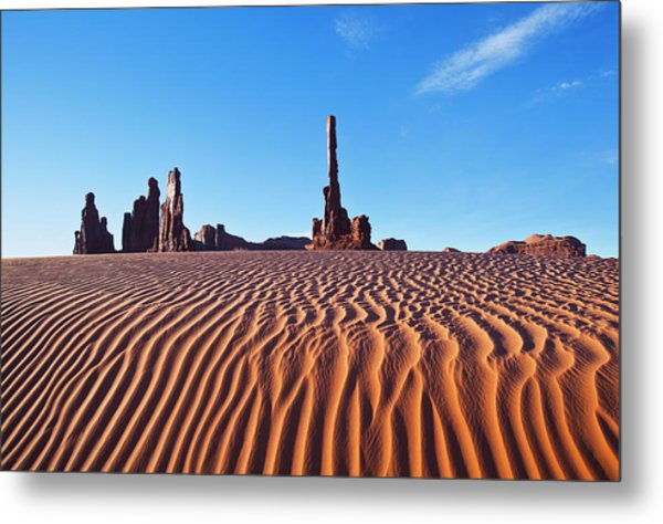 Early Morning Sand Dunes At Totem Pole Metal Print