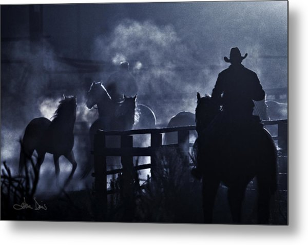 Early Morning Smoke Metal Print