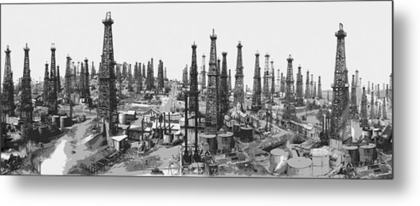 Early Oil Field Metal Print