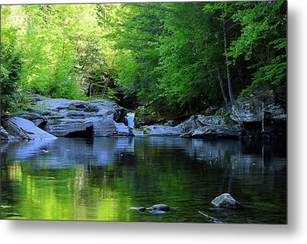 Early Spring Morning At Rock Run Cataracts Metal Print