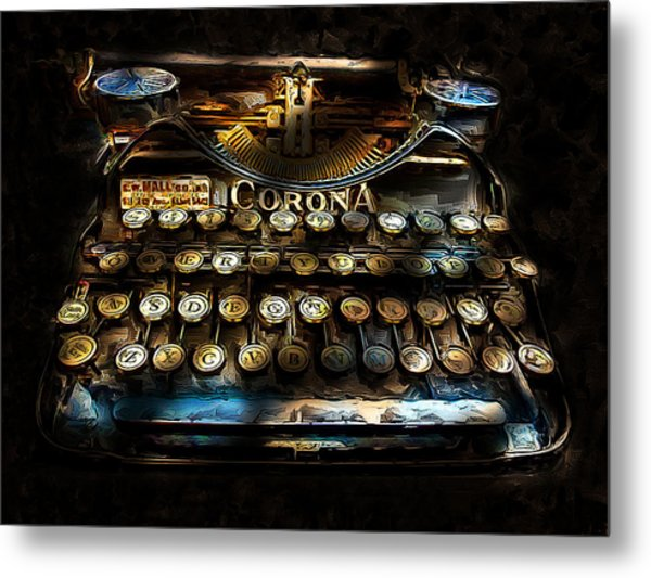 Early Word Processor Metal Print by Cary Shapiro