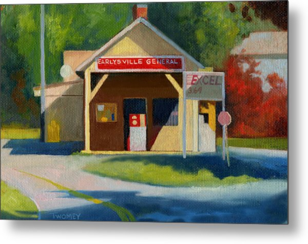 Earlysville Virginia Old Service Station Nostalgia Metal Print
