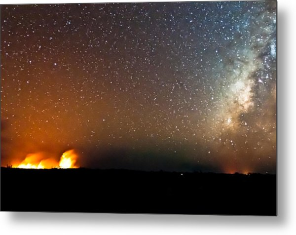 Earth And Cosmos Metal Print