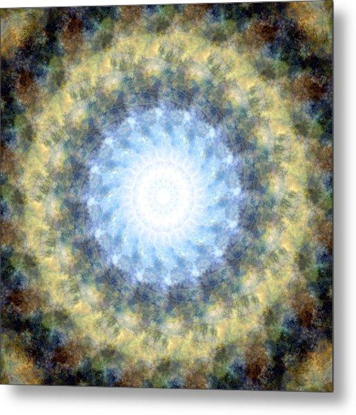 Earth And Sky Mandala Kaleidoscope Metal Print