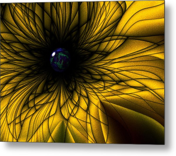 Earth Flower Metal Print