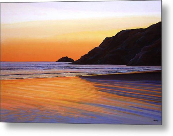Earth Sunrise Sea Metal Print